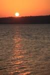 伊良部島へ沈む夕陽。