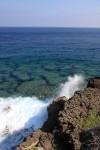結構波もありました。東シナ海と太平洋のブレンドされた波が砕け散る。
