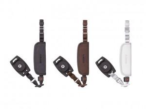ハンドストラップ。つけたまま三脚使用、通常のストラップと併用できるなど特徴がある。