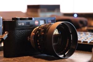 ついでにLEICA M9も撮ってみた。Nikonの50mm F1.1というヘンタイレンズw