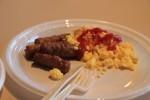 アメリカの典型的な朝ご飯。まー、そこそこでした。