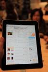 iPadでmixiしてみた。ちゃんと表示されて感動。