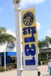 STS-131の旗がたくさん。これはこの機会しか見られない旗だと思うので記念に撮っておきました。