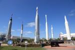 ロケットガーデン。オールドスクールなロケットがたくさん。