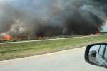 I-95を北上してみると、かなりの火事であることがわかります。