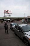 シアトルの市場。パイクプレイスマーケット。