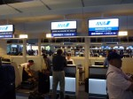 羽田空港でANAのチェックイン。ビジネスアップグレードでるんるん♪