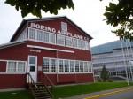 航空博物館にあるボーイングの工場を復元した建物。