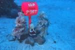 IOPのポスト。海の中で見ても蛍光色は目立つ