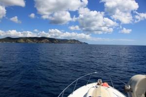 ニュージーランド北島の一番上のポイント。ノースエンド近く。 空も海も青すぎる。