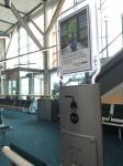 昔(15年前)に比べると近代的な空港になってます。きれい。