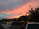 セドナのアップタウンでの夕焼け。真っ赤になっていて綺麗だった。