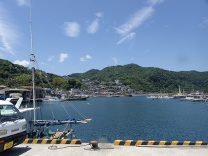 川奈港。陸の景色もなかなかよい。